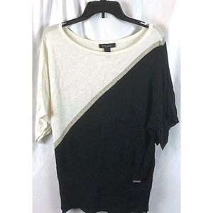 White House Black Market Colorblock Top Sz M